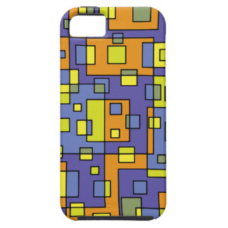 Yellow squares background iPhone 5 case