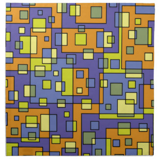 Yellow squares background napkin