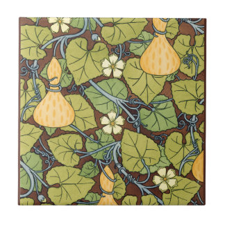 Yellow Squash and Blossoms Small Square Tile