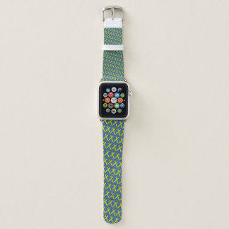 Yellow Standard Ribbon by Kenneth Yoncich Apple Watch Band