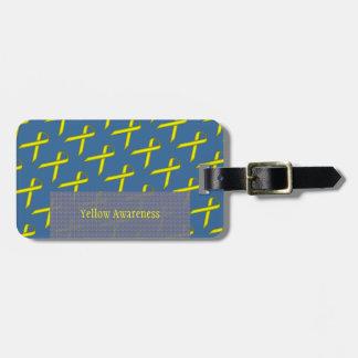 Yellow Standard Ribbon by Kenneth Yoncich Luggage Tag