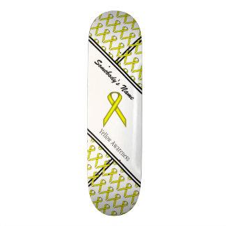 Yellow Standard Ribbon Skateboard Deck