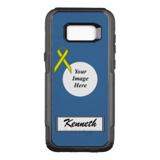 Yellow Standard Ribbon Template by Kenneth Yoncich OtterBox Commuter Samsung Galaxy S8+ Case