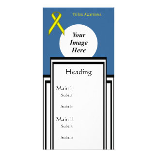 Yellow Standard Ribbon Template Picture Card