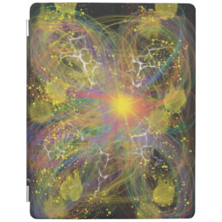 Yellow Star Abstract Art Space Lightning Design iPad Cover
