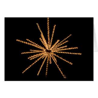 Yellow Star Bright Light Sculpture - 5x7 Greeting Card