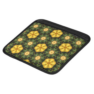 Yellow Star Flowers Sleeves For iPads