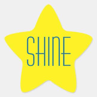 Yellow Star Shine stickers