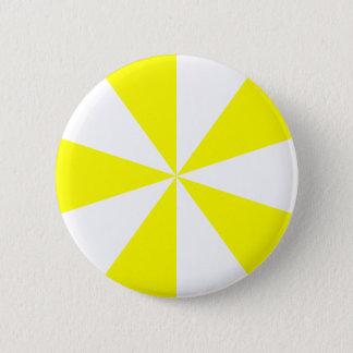 Yellow Starburst 6 Cm Round Badge