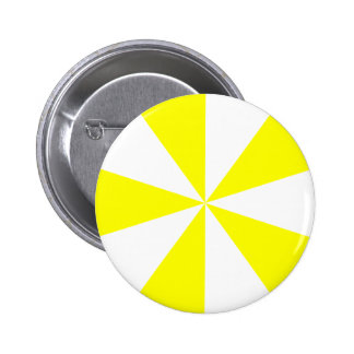 Yellow Starburst 6 Cm Round Badge