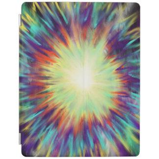 Yellow Starburst on Aqua Blue Indie Art Design iPad Cover