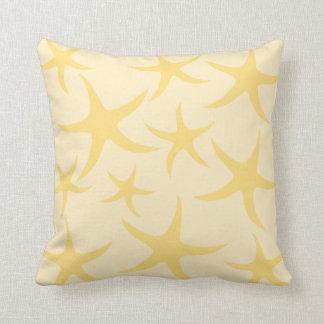 Yellow Starfish Pattern. Cushion
