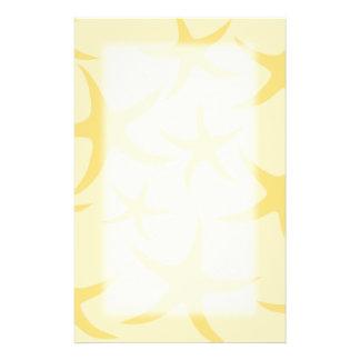 Yellow Starfish Pattern. Customized Stationery