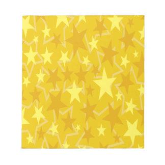 Yellow Stars Notepad