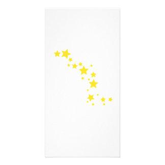 Yellow Stars Personalized Photo Card