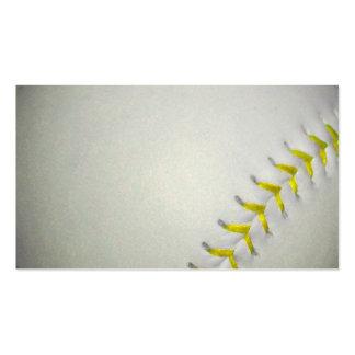 Yellow Stitches Baseball / Softball Business Card Templates