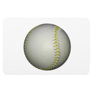 Yellow Stitches Baseball / Softball Rectangular Photo Magnet