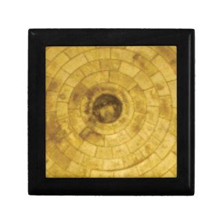 yellow stone circles gift box
