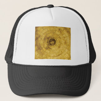 yellow stone circles trucker hat