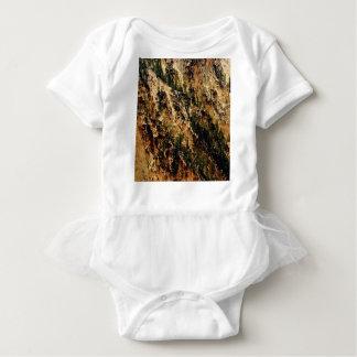 yellow streak of landscape baby bodysuit