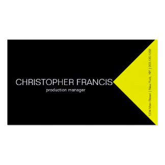 Yellow stripe and black amazing business card