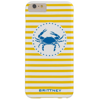 Yellow Striped Monogrammed Phone Case
