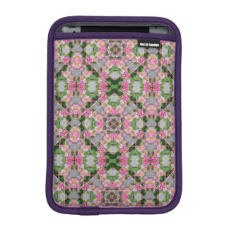 Yellow-Striped Pink Mandala iPad Mini Sleeve