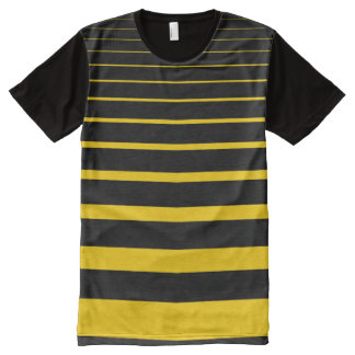 Yellow Stripes All-Over Print T-Shirt