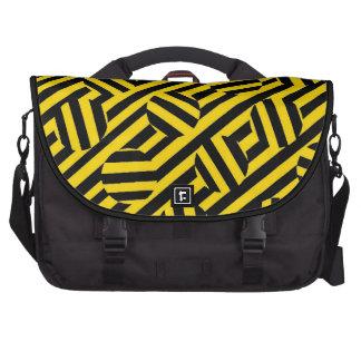 Yellow stripes and circles Bags Laptop Computer Bag