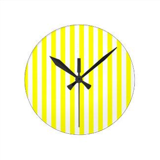 Yellow Stripes Clocks