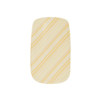 Yellow Stripes Minx Nail Art