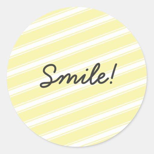 Yellow Stripes Pattern Sticker Design Art