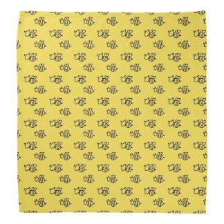 Yellow Summer Bees Pattern Bandana