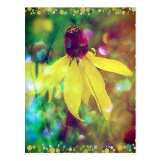 Yellow Summer Wildflower Postcard