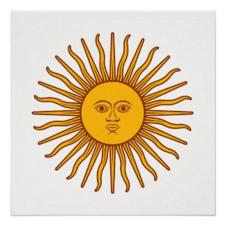 Yellow Sun Astrology Planet Symbol Poster