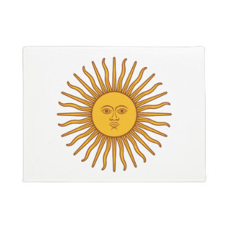Yellow Sun Astrology Plnet White Doormat