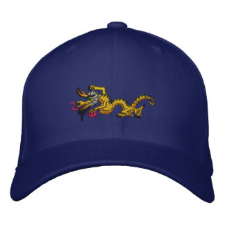 YELLOW SUN  dragon Embroidered Hat