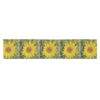 yellow sun flower summer blossom short table runner