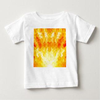 Yellow Sunburst Geometric Cube Design Baby T-Shirt