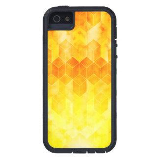 Yellow Sunburst Geometric Cube Design iPhone 5 Cover