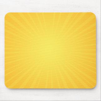 Yellow Sunburst Mouse Pad