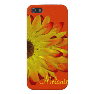 Yellow Sundaze Flower Personalized Case For The iPhone 5