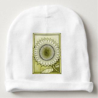 Yellow Sunflower Baby Beanie