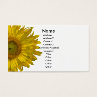 Yellow Sunflower Business Card
