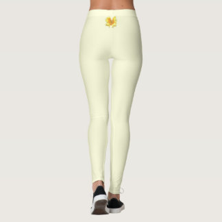 Yellow Sunflower Butterfly Leggings