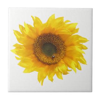 yellow sunflower ceramic tile