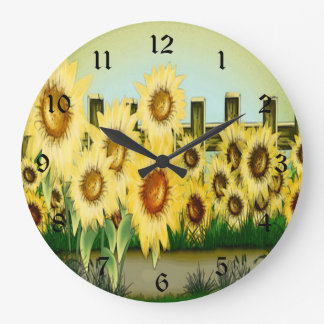 Yellow Sunflower Clock