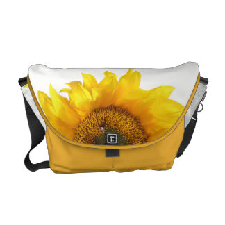 yellow sunflower commuter bag