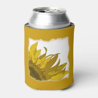 Yellow Sunflower Corner Wedding Favors Can Cooler