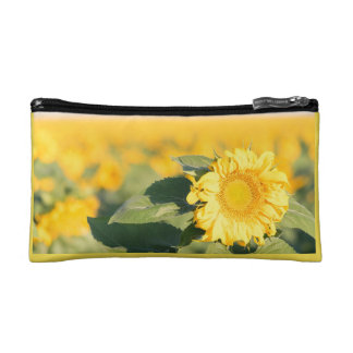 Yellow Sunflower Cosmetic Bag